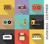 retro icon  flat design vector...   Shutterstock .eps vector #223194808