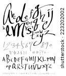 alphabet | Shutterstock .eps vector #223202002
