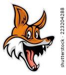 smiling cheerful fox | Shutterstock .eps vector #223204288