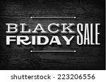 black friday announcement on ... | Shutterstock .eps vector #223206556