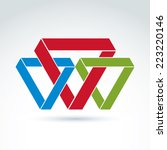 vector abstract intersected... | Shutterstock .eps vector #223220146