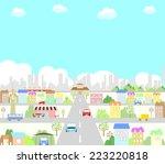 town   Shutterstock .eps vector #223220818