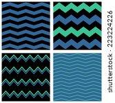 zig zag chevron pattern set.... | Shutterstock . vector #223224226