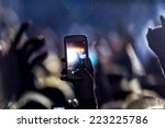 people taking photographs with... | Shutterstock . vector #223225786