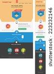 modern designed responsive web... | Shutterstock .eps vector #223232146