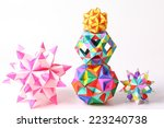 colorful geometric origami ball ... | Shutterstock . vector #223240738