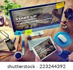 man planning to startup... | Shutterstock . vector #223244392