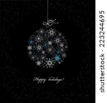 christmas bauble from... | Shutterstock . vector #223244695