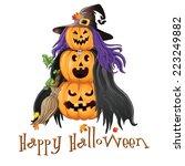 illustration of halloween... | Shutterstock . vector #223249882