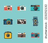 vintage camera icon vector | Shutterstock .eps vector #223252132