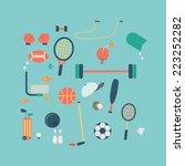 sport accessories icon vector | Shutterstock .eps vector #223252282
