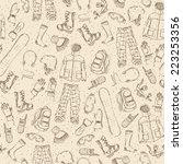 seamless sketch pattern. hand... | Shutterstock .eps vector #223253356