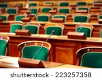 empty vintage congress hall... | Shutterstock . vector #223257358