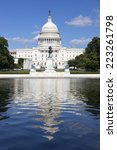 Stock photo united states capitol government in washington d c united states of america blue sky behind 223261798