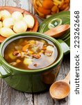 delicious vegetarian soup with...