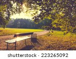 Park Bench In The Morning Light