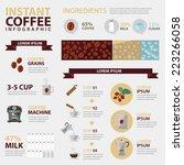 vector instant coffee... | Shutterstock .eps vector #223266058
