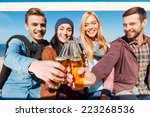 cheers to friends  group of... | Shutterstock . vector #223268536