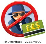 credit card fraud | Shutterstock .eps vector #223274902