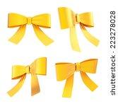 set of glossy golden...   Shutterstock . vector #223278028