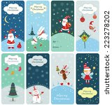 set of christmas banners with... | Shutterstock .eps vector #223278202