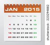 simple 2015 year vector... | Shutterstock .eps vector #223294882