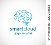 smart cloud abstract vector... | Shutterstock .eps vector #223298686