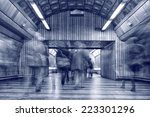 fast moving people at subway... | Shutterstock . vector #223301296