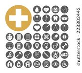 medical icon set vector... | Shutterstock .eps vector #223302442