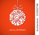 vector christmas decoration of... | Shutterstock .eps vector #223302748