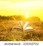 background of opened book with... | Shutterstock . vector #223310722