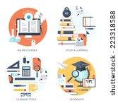 flat vector illustration. study ...   Shutterstock .eps vector #223318588