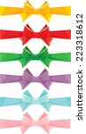 Set Of Different Colors Bows...
