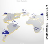 world weather map concept. | Shutterstock .eps vector #223319575