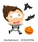cartoon halloween child  ... | Shutterstock . vector #223322596