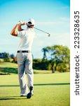 Golfer Playing On Beautiful...
