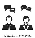 call center operators wearing... | Shutterstock .eps vector #223330576
