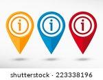 information map pointer  vector ... | Shutterstock .eps vector #223338196