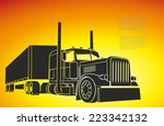 drawing of the truck... | Shutterstock .eps vector #223342132