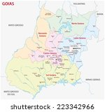 goias administrative map | Shutterstock .eps vector #223342966