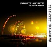 futuristic interface  hud  ... | Shutterstock .eps vector #223349932