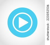play button icon isolated on... | Shutterstock .eps vector #223352536