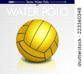water polo ball  vector | Shutterstock .eps vector #223360348