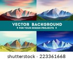 vector landscape background | Shutterstock .eps vector #223361668