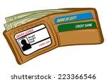 an illustration of a wallet... | Shutterstock .eps vector #223366546