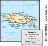 jamaica country map | Shutterstock .eps vector #223366792
