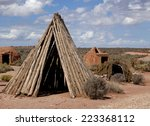 different types of sweat lodges ... | Shutterstock . vector #223368112