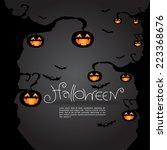 halloween background  vector... | Shutterstock .eps vector #223368676