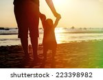 father and little daughter... | Shutterstock . vector #223398982