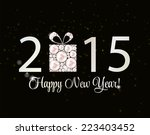 abstract beauty 2015 new year... | Shutterstock .eps vector #223403452